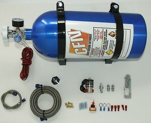 Dry Nitrous Oxide Kit Adjustable Up To 125hp Complete Nos Nitrous Kit New