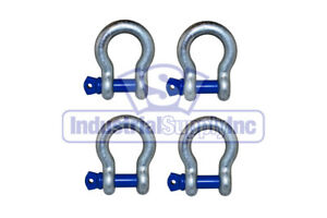 Anchor Shackle Clevis Alloy Screw Pin 7 8 4 Pack Industrial Supply