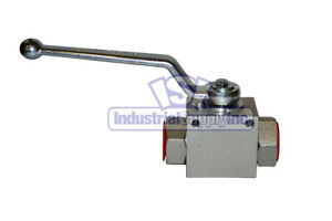 High Pressure Ball Valve Hydraulic 3 4 Steel Industrial Supply
