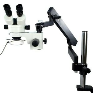 Articulating Arm post Stand Microscope 7x 45x With 54 Led Light