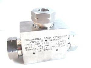 New Ingersoll Rand 10079465 Waterjet Cutting Valve Irct9990