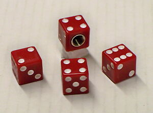 50 S Classic Rat Rod Red Dice Tire Valve Stem Caps Set Of 4