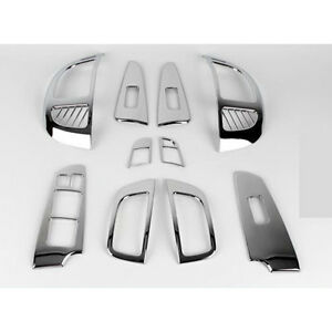 Chrome Interior Kit Trim Set For 2008 2009 2010 2011 Kia Forte All New Cerato