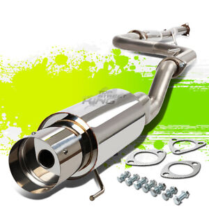Stainless 4 5 Tip Cat Catback Race Exhaust For 92 00 Honda Civic Dx Lx Ex Eg Ek