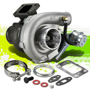T04e T3 T3 Turbo Turbocharger Compressor W Internal Wastegate V Band Down Pipe