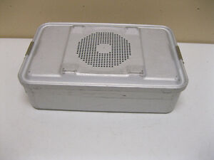 Used Aesculap Sterilization Dbp Case Container 78532 17 X 10 3 4 X 3 1 2