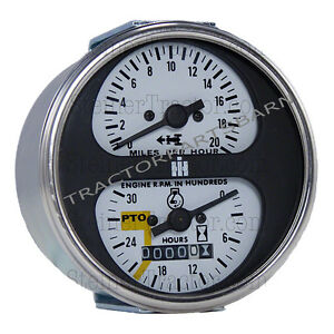 Ih Farmall New Tachometer Assembly 544 656 666 826 966 1026 1066 Hydro 70 86 100