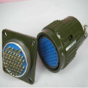 10 Military 50 pin Male Female Circular Connector f50p
