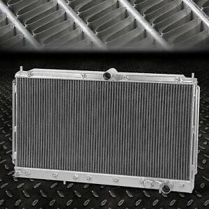 2 row Aluminum Core Racing Radiator For 91 99 Mit 3000gt 91 96 Dodge Stealth Mt