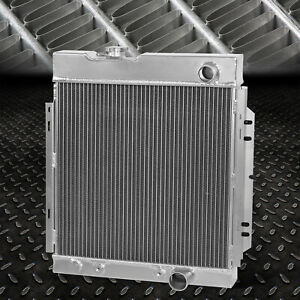 3 row Full Aluminum Racing Radiator For 64 66 Ford Mustang Manual Transmission