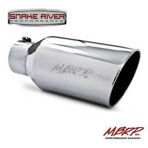 Mbrp Stainless Steel Diesel Exhaust Tip 5 Inlet 8 Outlet 18 Long Rolled End