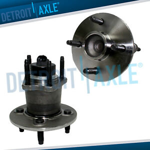 New Set 2 Rear Wheel Hub And Bearing Assembly For Cobalt 4 Bolt W Abs