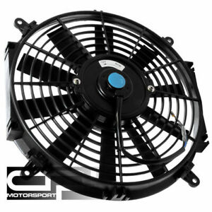 16 Black Slim Electric Reversible Radiator Cool Fan