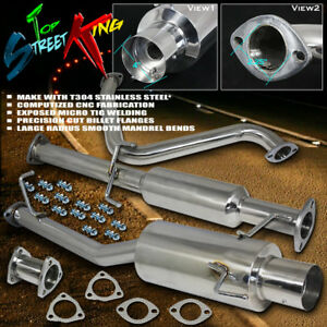 Single Path Stainless Cat Catback Exhaust For 97 01 Honda Prelude Bb6 H22a4