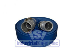 1 1 2 X 100 Blue Water Discharge Hose Camlocks With Free Shipping