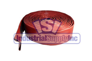 2 X 50ft Red Water Discharge Hose W o Fittings fs