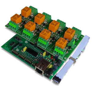 Ethernet Relay Controller Module Web Server Ip And Serial Rs232 Controlled