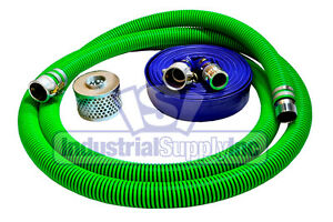 2 Epdm Trash Pump Suction Hose Kit W 100 Blue Discharge Hose fs