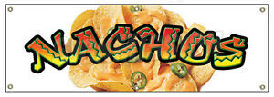 72 Nachos Banner Sign Cheese Chips Cart Stand Signs Mexican Food Taco Burrito