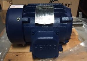 New 1 Hp Motor Hemco Cast Iron 3480rpm 3 Phase 143t Frame Eb0012fba
