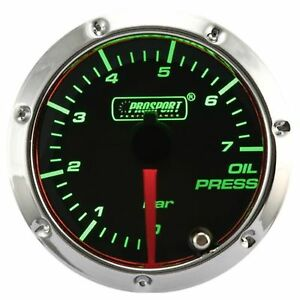 Prosport 7 Color Led 52mm Smoke Oil Pressure Gauge Bar