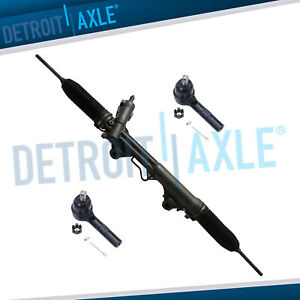 Complete Power Steering Rack And Pinion 2 New Outer Tie Rod 4 0l
