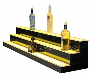 80 Lighted Bar Shelf 3 Steps Led Liquor Bottle Glorifier Back Bar Shelving