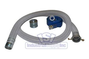 3 Flex Mud Trash Pump Water Suction Hose Kit W 50 Discharge Camlock Hose