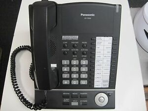 Panasonic Kx t7625 Black Business Phone System With Headset Connector Clean