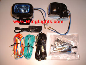 Hella Optilux Rectangular Driving Lamps Fog Lights 1402