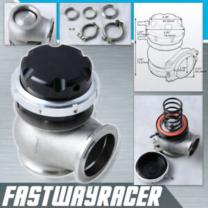 Universal Version 2 44mm V band Black Turbo External Wastegate Adjustable 11 Psi