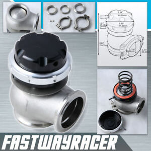 Universal Version 2 44mm V band Black Turbo External Wastegate Adjustable V Band