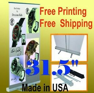 31 5 X 78 Retractable Free Graphic Printing Roll Up Banner Stand Trade Show