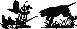 Dog And Duck Hunting Scene Vinyl Decal Your Color Choice Sticker