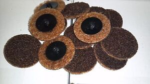 2 Brown Roloc Surface Conditioning Disc Coarse 5 Pieces Scotch Brite