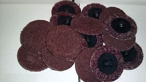 2 Maroon Roloc Surface Conditioning Disc Coarse 5 Pieces Scotch Brite
