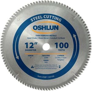 Saw Blade Circular Metal Cutting 12 X 1 X 100t