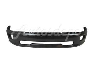 For 2009 2012 Dodge Ram 1500 Pickup Front Steel Bumper Face Bar Grey W fog Hole
