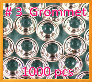 1000 3 7 16 Grommet And Washer Nickel Eyelet Grommets Machine Sign Punch Tool
