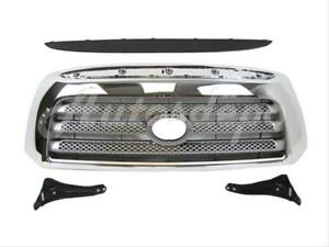 For Toyota 2007 2009 2008 Tundra Limited Grille Slv Chrome Molding Bracket 4p