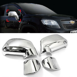 Chrome Side Mirror Garnish Without Led Type 4p For 2011 2015 Chevy Orlando 4d