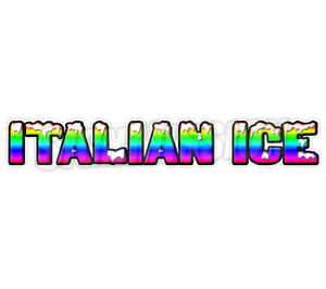 48 Italian Ice Concession Decal Cart Trailer Stand Sticker Equipment