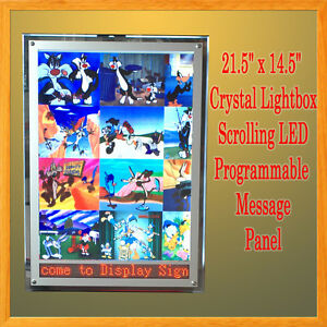 A3 Led Crystal Light Box Led Programmable Scrolling Message Display Panel Sign