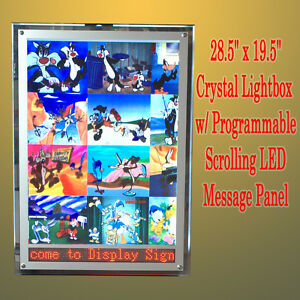 A2 Led Programmable Scrolling Message Lightbox Sign Display Board Light Box