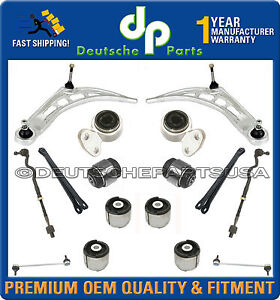 Front Rear Axle Control Arms Ball Joints Tie Rods Suspension Kit For Bmw E46