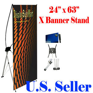 X Banner Stand 24 X 63 W Free Bag Trade Show Display Banner X banner