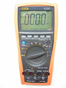 New Vc87 True Rms Digital Multimeter For Motor Drives Industrial Dmm Vs Flue 87v