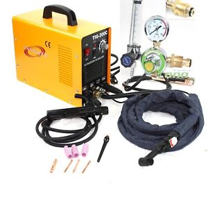 200 Amp Dc Pulse Tig Arc Mma Inverter Welding Welder Machine W argon Regulator