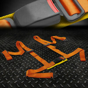 1x Universal 4 Point 2 Strap Drift Racing Safety Seat Belt Buckle Harness Gold