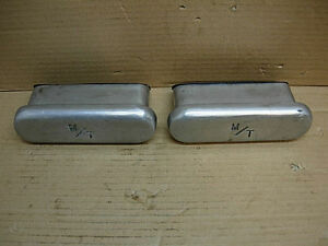 1960s Mickey Thompson 6 3 4 Valve Cover Breathers Large M ts Oil Pan Breather